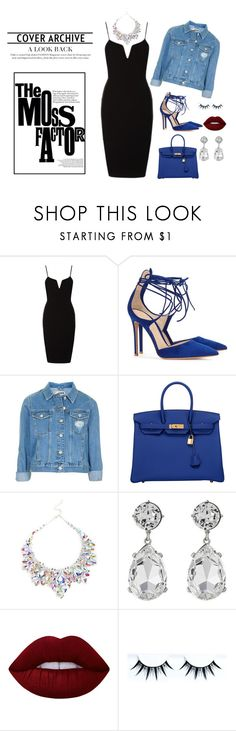 """""""All About Fashion"""" by nylover-998 ❤ liked on Polyvore featuring Gianvito Rossi, Topshop, Hermès, Kenneth Jay Lane, Lime Crime and BlueandBlack"""