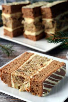 """Gargamel"" wg siostry Anastazji – Smaki na talerzu Polish Cake Recipe, Polish Recipes, Sweet Desserts, Delicious Desserts, Dessert Recipes, Cream Cheese Flan, Mousse Cake, Cakes And More, Christmas Baking"