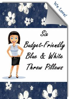 Blue And White Pillows, Blue Throw Pillows, My Favorite Things, Pretty, Fabric, Style, Tejido, Swag, Tela