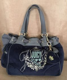 Juicy Couture Love Your handbag black velour leather dreamer hobo purse NWT #JuicyCouture #Hobo