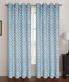 Look what I found on #zulily! Aqua Blue Alex Curtain Panel - Set of Two #zulilyfinds
