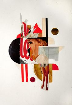 """""""Just Say Yes""""12.5″ x 19″Collage on paper2012"""