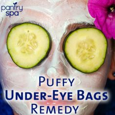 - Under-Eye Bag Remedy Ingredients: - Cucumbers (Chilled in the fridge work best!) OR - Used Tea Bag Under-Eye Bag Home Remedy Instructions: After a long Under Eye Fillers, Dark Circle Remedies, Cucumber Face Mask, Skin Care Routine 30s, Skincare Routine, Face Spray, Puffy Eyes, Red Eyes, Under Eye Bags