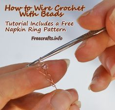How to Do Wire Crochet With Beads -- Free Instructions and Tutorial at FreeCrafts.info