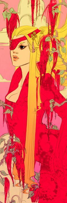 Pink Amaranthus Bookmark Revised by *Newsha-Ghasemi on deviantART