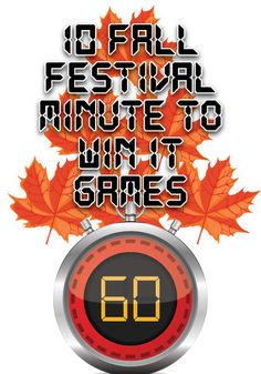 Fall Festival Minute to Win It Games for Kids