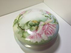 Limoges Box, Porcelain Box, Hand Painted Limoges, Limoges Trinket Box, Vanity Box, Powder Jar, Jewelry Box, French Porcelain, Rose Box by Unemaisonbleu on Etsy