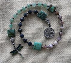 Dragonfly Dreams Pagan Prayer Beads Meditation Beads by inkleing, $26.50