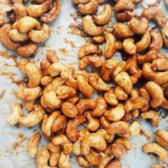 Honey And Mustard Roasted Cashews by Joy The Baker