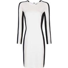 MANGO Two-Tone Knit Dress ($80) ❤ liked on Polyvore