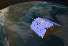 Artist's concept of the twin GRACE satellites