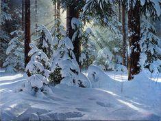 By Sergei Trukhan Landscape Drawings, Landscape Photos, Landscape Art, Landscape Paintings, Landscapes, Painting Snow, Winter Painting, Beautiful Landscape Photography, Nature Photography
