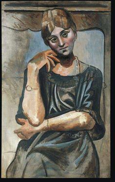 Portrait of Olga Khokhlova (artist's first wife), 1917 Pablo Picasso Henri Rousseau, Henri Matisse, Kunst Picasso, Picasso Art, Picasso Paintings, Spanish Painters, Spanish Artists, Dali, Paul Gauguin