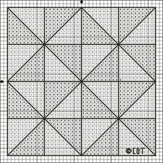 Free Pinwheel Block Cross Stitch Patterns - Free Printable Pinwheel Block Chart