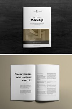 A4 Brochure Mockups vol. 1 - download freebie by PixelBuddha