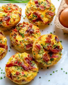 These Clean Eating Bacon Egg Muffins are the Bomb!- These Clean Eating Bacon Egg Muffins are the Bomb! These Clean Eating Bacon Egg Muffins are the Bomb! Egg Recipes, Clean Eating Recipes, Clean Eating Snacks, Brunch Recipes, Breakfast Recipes, Cooking Recipes, Breakfast Egg Muffins, Breakfast Frittata, Clean Foods