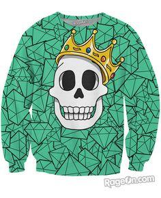 Biggie Skull Crewneck Sweatshirt - RageOn! - The World's Largest All-Over-Print Online Store
