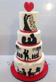 Story telling wedding cake