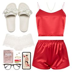 """""""Sin título #1865"""" by paulina68ac ❤ liked on Polyvore featuring Body by Victoria, Elsa Peretti, Cartier, Adina Reyter, Gucci and ban.do"""