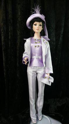 outfit doll Tonner American Models tailleur parme par dollofdawn