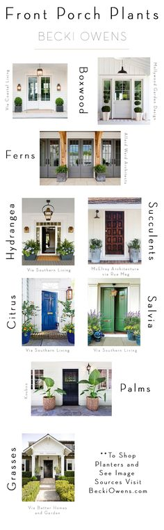 BECKI OWENS- 8 Pretty Ideas for Front Porch Plants