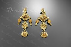 Fantastic Alloy with Golden Rhinestone Wedding Jewelry Set Including Necklace and Earrings