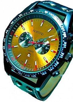 Massive XXL Animoo Force Armbanduhr Leder Herrenuhr mit Datumsanzeige - http://besteckkaufen.com/animoo/massive-xxl-animoo-force-armbanduhr-leder-mit