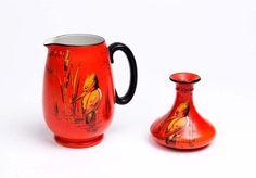 Shelley porcelain Kingfisher jug and vase