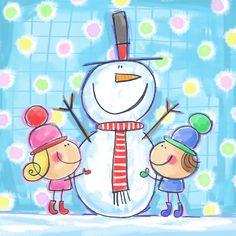 niñas nieve