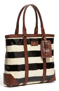 Kate Spade New York Black And Cream Dama Tote