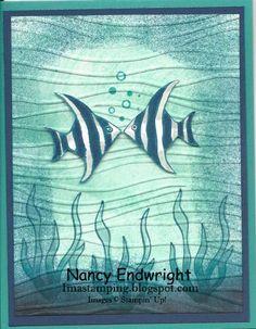 Imastamping in Indiana: Seaside Shore - Kissing Fish