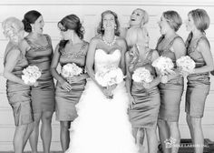 Cute bride and bridesmaid picture!