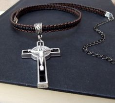 Crucifix Cross Necklace  Religious St. by SherryKayDesigns on Etsy, $38.00