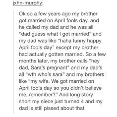 Marriage on April Fools