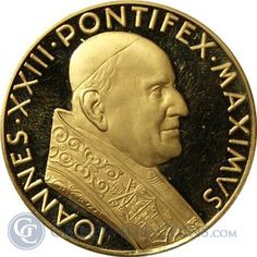 Italy Pope John XXIII Gold - thumbnail Gold And Silver Coins, Pope John, Italy, People, People Illustration, Italia, Folk