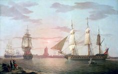 "Robert Salmon (British 1775 - c.1845) ""The East Indiaman ""Warley,"" 1804. NMM, Greenwich."