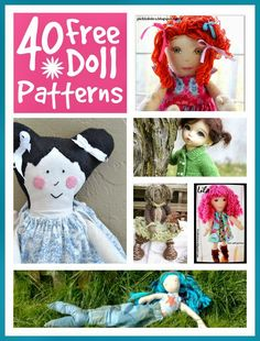 40 FREE dolls and dolls clothes patterns @Mums make lists ...