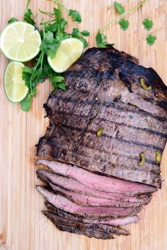 Jalapeño-Lime Flank Steak — A Sweet Simple Life Ingredients: 2 lb flank steak cup olive oil 2 tablespoons GF soy sauce cup lime juice (about 2 limes) 4 cloves garlic, minced 2 teaspoons red pepper flakes 1 jalapeño, seeded and diced Prep Time: 10 minutes Casserole Recipes, Meat Recipes, Cooking Recipes, Grill Recipes, Healthy Recipes, Protein Recipes, Chef Recipes, Recipes Dinner, Potato Recipes