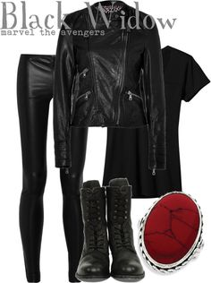 """""""Black Widow"""" by disney-bound ❤ liked on Polyvore"""