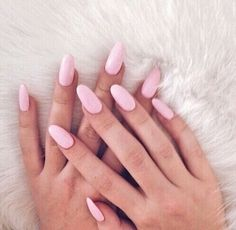 Nails Oval Pink