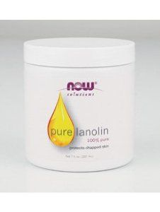 NOW Foods - Pure Lanolin Oil (100% Pure) 7 fl oz by Now Foods. $5.49. NOW Foods. 7725. Pure Lanolin 4 fl oz - 100% Pure - Protects Chapped Skin - NOW 100% Pure Lanolin is solid in its natural state Condition: Skin in need of protection from wind burn and environmental factors. Solution: Pure Lanolin is a powerful, natural moisturizer that can promote the smoothness and translucency associated with healthy, youthful skin. Derived from the wool of sheep, lanolin is remarkably ...