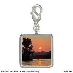 Sunrise Over Katun River Photo Charms