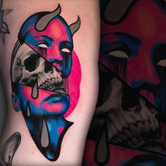 Illustrative tattoos by Hans Deslauriers
