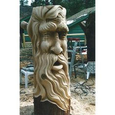 Chainsaw Carving - Tree Spirit.