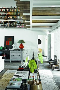 Farmhouse Transformation // Paola Navone | Afflante.com Love the transformations and mixed use spaces
