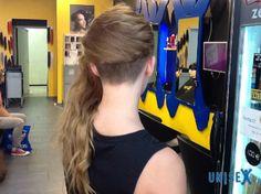nape undercut + long hair
