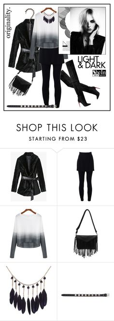 """Light And Dark"" by ul-inn ❤ liked on Polyvore featuring Balmain, Dolce&Gabbana, Valentino, women's clothing, women's fashion, women, female, woman, misses and juniors"