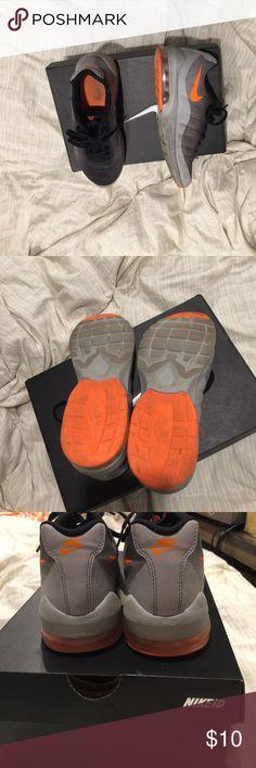 Nike Boys sneakers Boys Black Gray Orange Sneakers Nike Shoes Sneakers