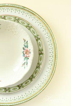 Hayseed Homemakin': Mismatched China : Plates & Saucers