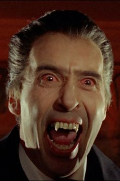 Christopher Lee as Hammer's Dracula. Nothing spectral or mystical here, Lee's Dracula is a vulpine predator, plain and simple.